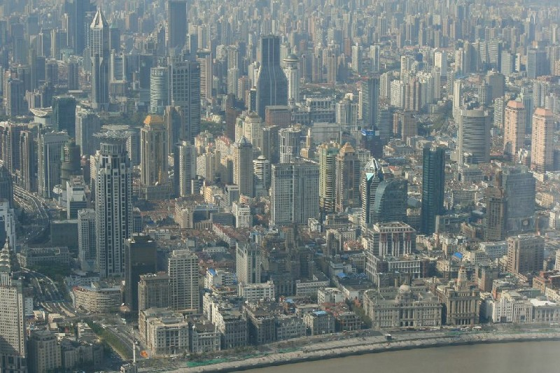 Shanghai seen from Pudong 2011 © Otto Leholt