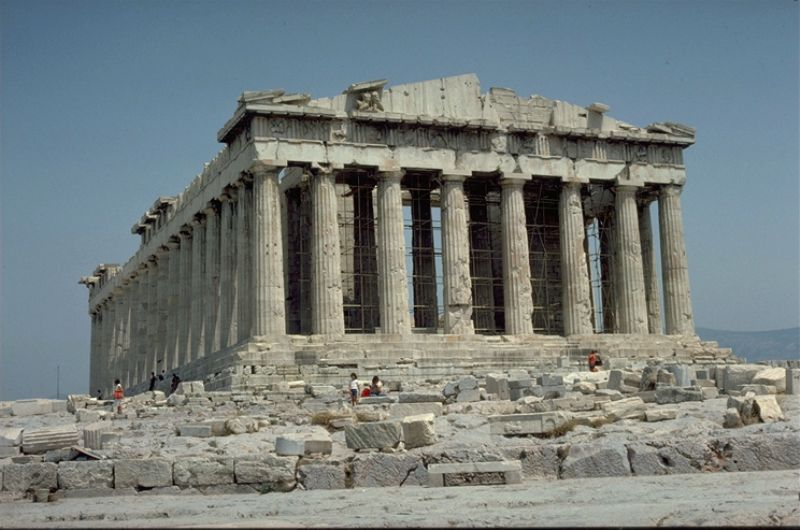 Parthenon tempel on Akropolis 1976  Photo: Otto Leholt